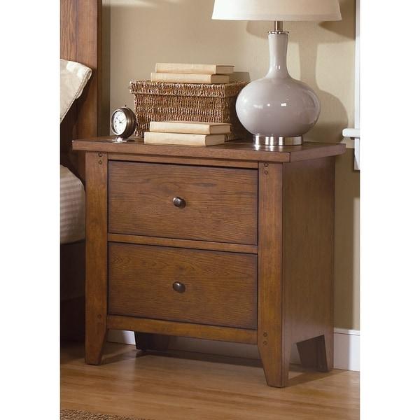 Heathstone Oak 2-drawer Nightstand