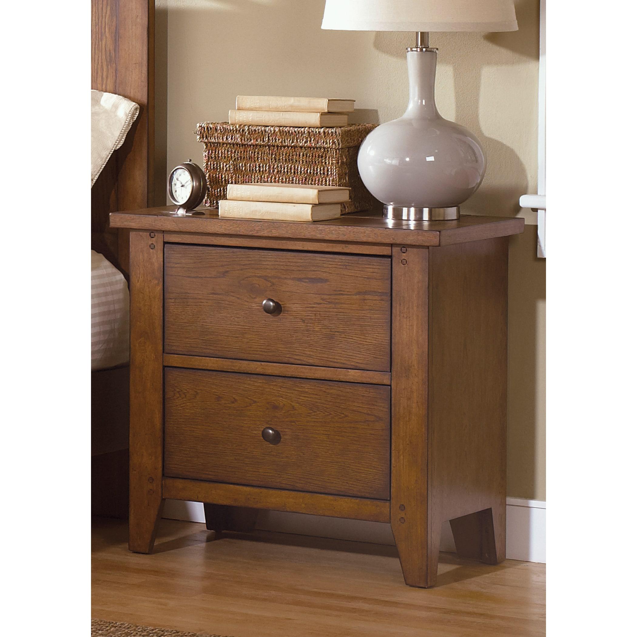 Liberty Heathstone Oak 2-drawer Nightstand (Rustic Oak 2-...