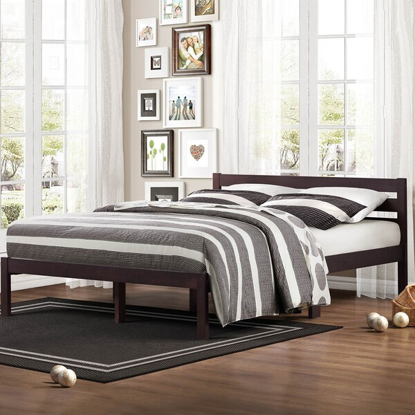TRIBECCA HOME Haylyn Queen Espresso Platform Bed