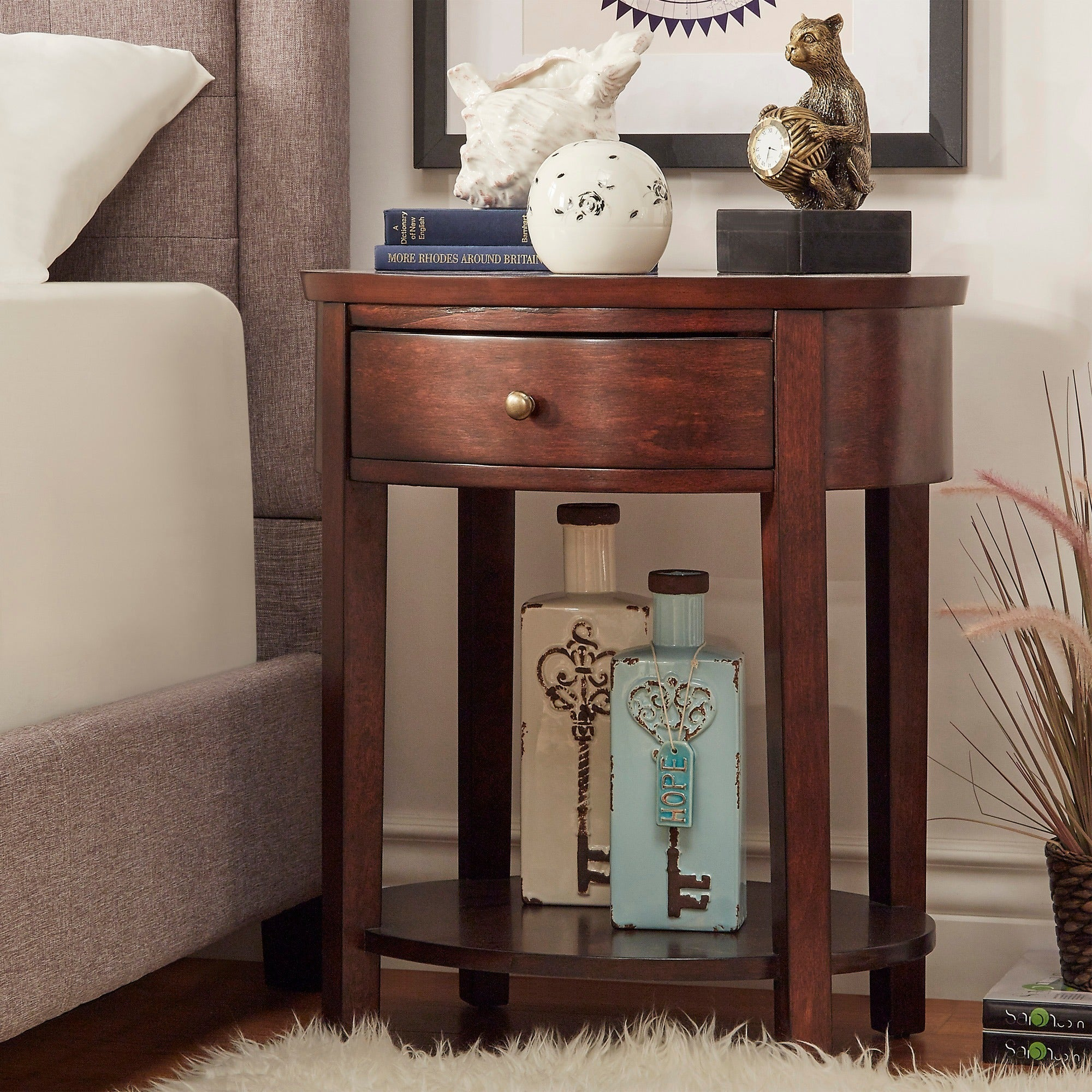 Fillmore-1-drawer-Oval-Wood-Shelf-Accent-End-Table-by-1-drawer thumbnail 10