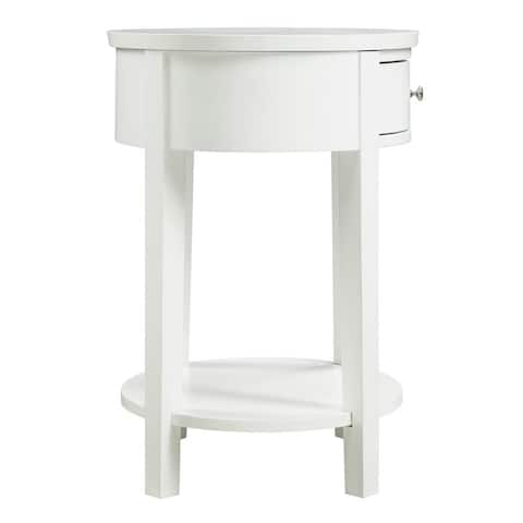 Fillmore 1-drawer Oval Wood Shelf Accent End Table by iNSPIRE Q Bold