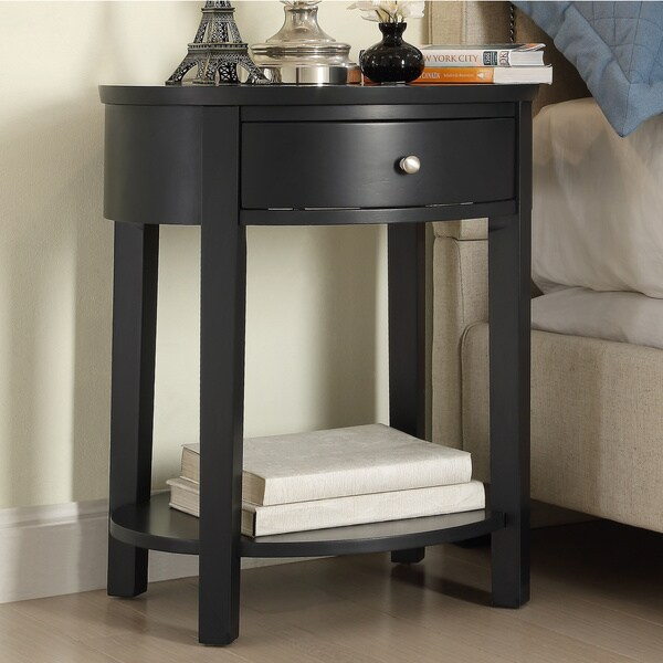 Fillmore 1 Drawer Oval Wood Shelf Accent End Table By INSPIRE Q Bold   Free  Shipping Today   Overstock.com   14776296