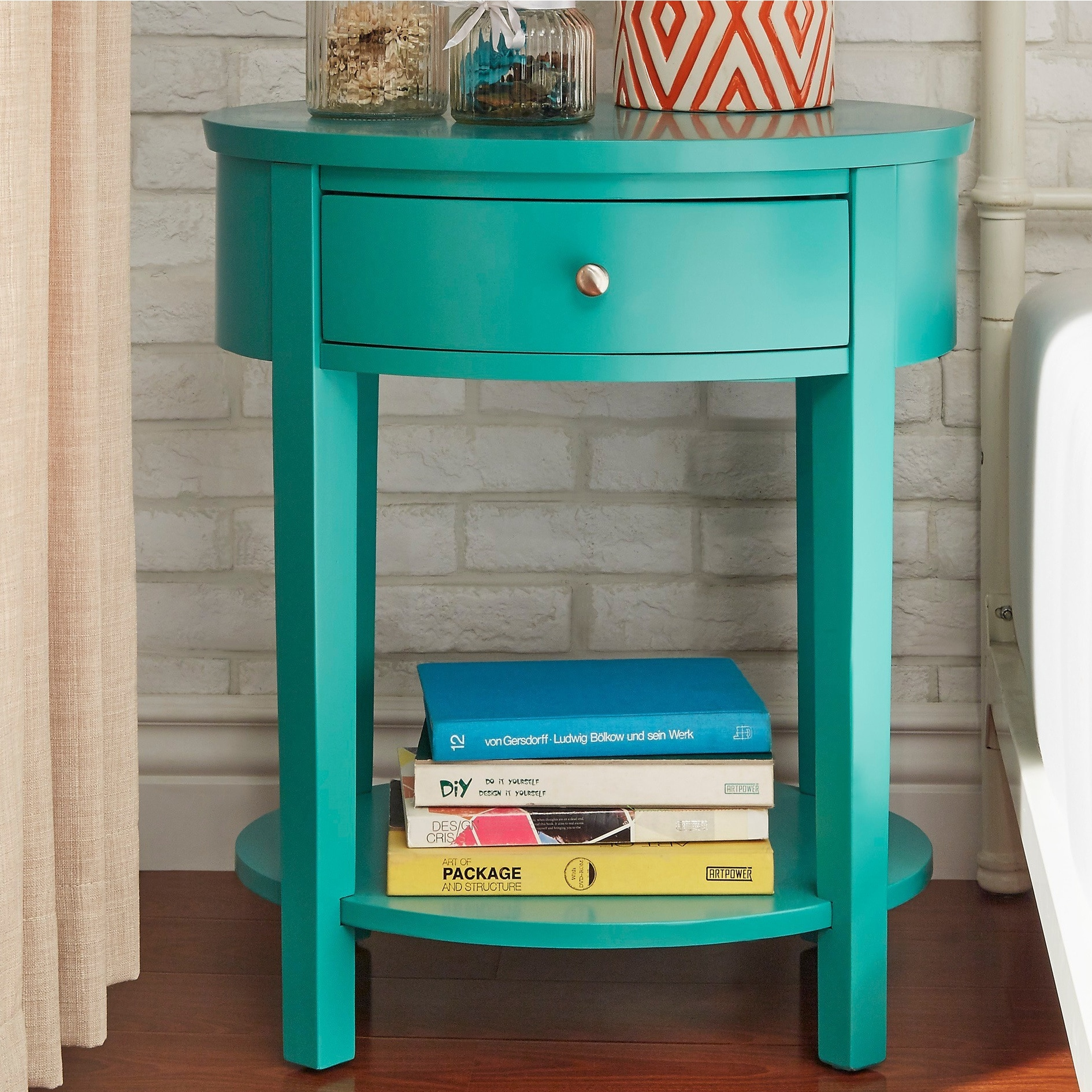 Fillmore-1-drawer-Oval-Wood-Shelf-Accent-End-Table-by-1-drawer thumbnail 22