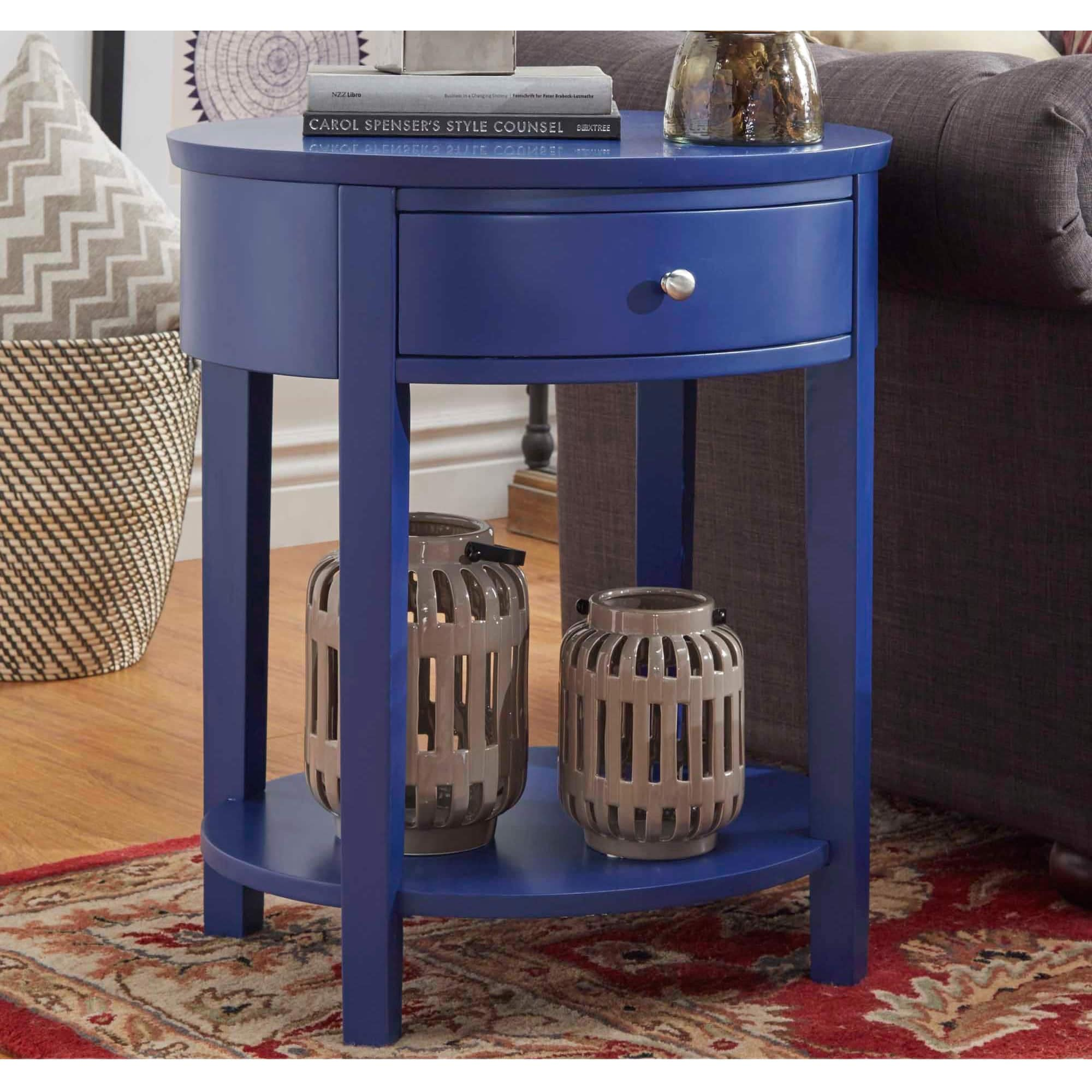 Fillmore-1-drawer-Oval-Wood-Shelf-Accent-End-Table-by-1-drawer thumbnail 37