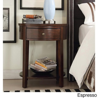 Fillmore 1-drawer Oval Wood Shelf Accent End Table by INSPIRE Q