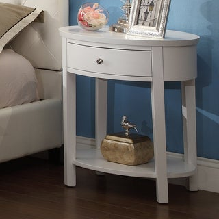 INSPIRE Q Fillmore White Oval Wood Accent Table