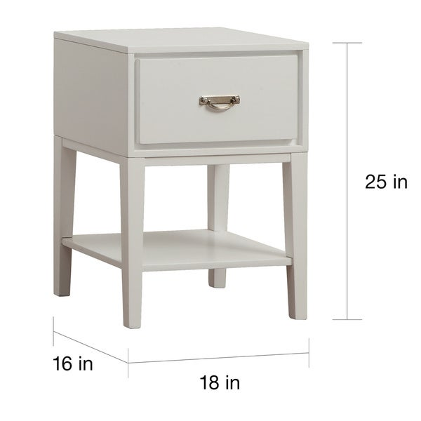 Haines White Rectangle Wood Accent Table by iNSPIRE Q Bold