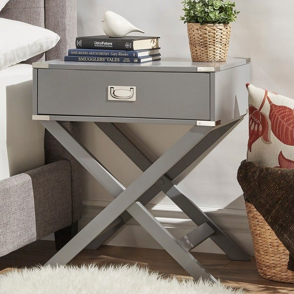 Kenton X Base Wood Accent Campaign Table by INSPIRE Q