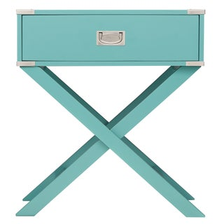 Kenton X Base Wood Accent Campaign Table by iNSPIRE Q Bold