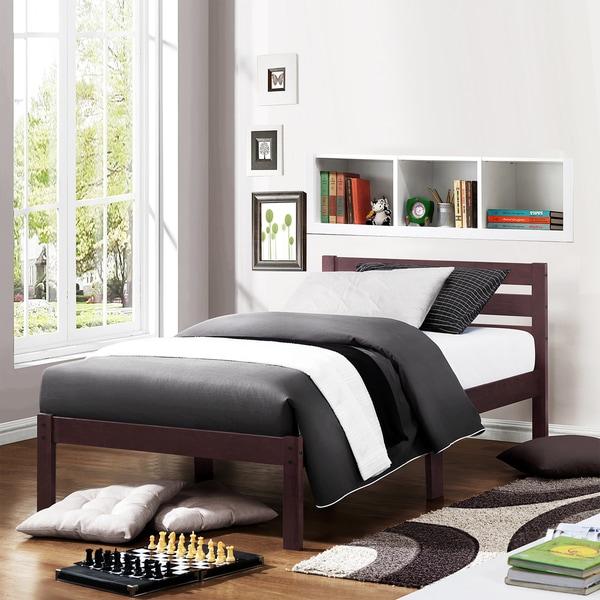 TRIBECCA HOME Haylyn Twin-size Espresso Platform Bed