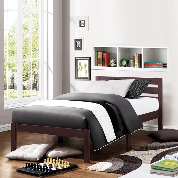 TRIBECCA HOME Haylyn Full Espresso Platform Bed