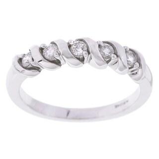 Eloquence 14k White Gold 1/4ct TDW Diamond Twist Ring