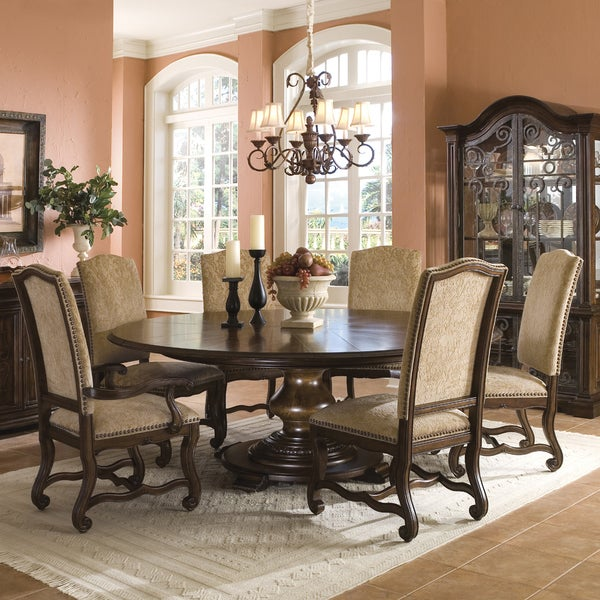 A r t furniture coronado 7 piece round table dining set for A r t dining room furniture