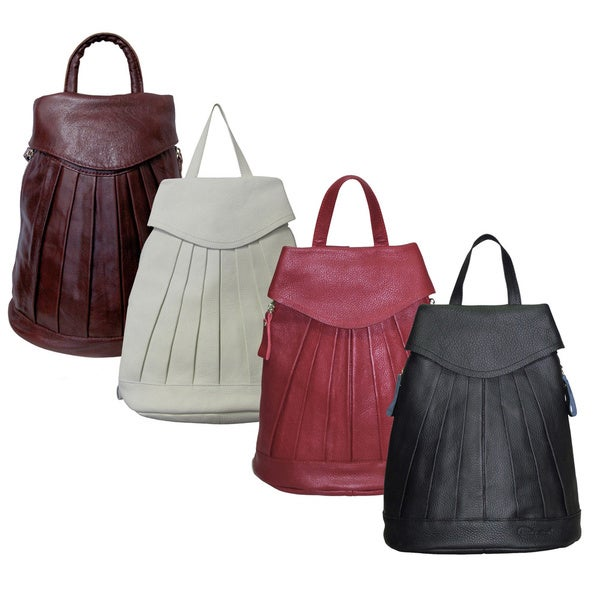 Amerileather Pleated Mini Backpack