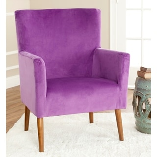Safavieh Mid-Century Purple Velvet Blend Club Chair