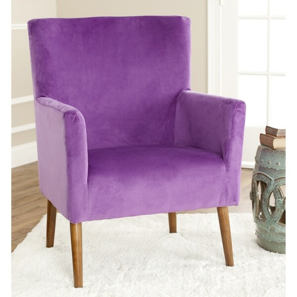 Safavieh Mid-Century Purple Velvet Blend Club Chair