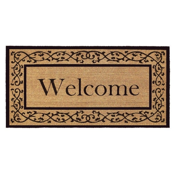 Shop Coir With Vinyl Backing 36x72 Inch Welcome Door Mat