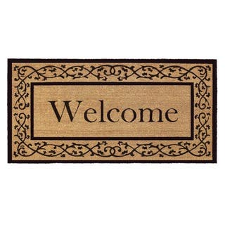 Coir with Vinyl Backing 36x72-inch Welcome Door Mat|https://ak1.ostkcdn.com/images/products/7305096/P14776462.jpg?impolicy=medium