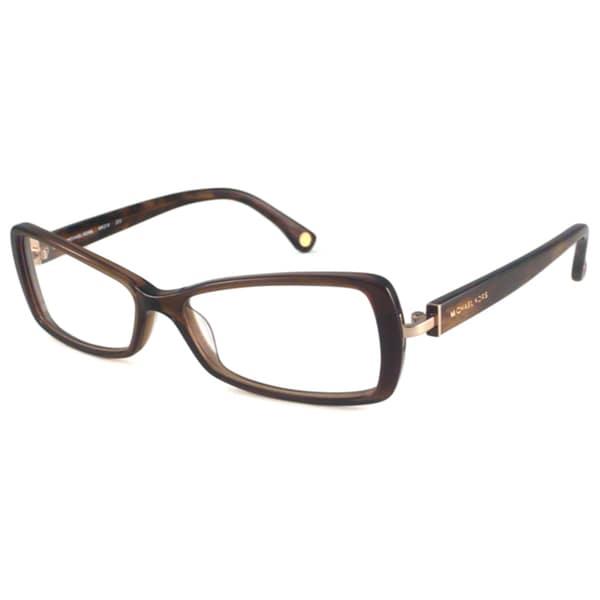 Michael Kors Readers Women's MK218 Brown Rectangular Reading Glasses