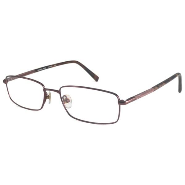 Michael Kors Readers Men's MK493M Brown Rectangular Reading Glasses