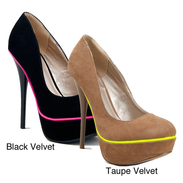 I-Comfort Women's Neon Piping Platform Pump