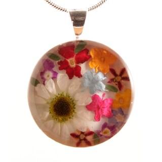 Colorful Bouquet of Flowers Pendant (Mexico)