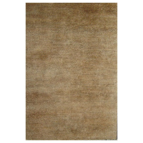Natural Solid Tan Hemp Rug (5' x 8')