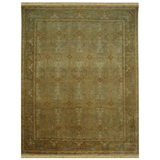 Hand-knotted Oriental Sand Wool Rug (5'3 x 7'7)