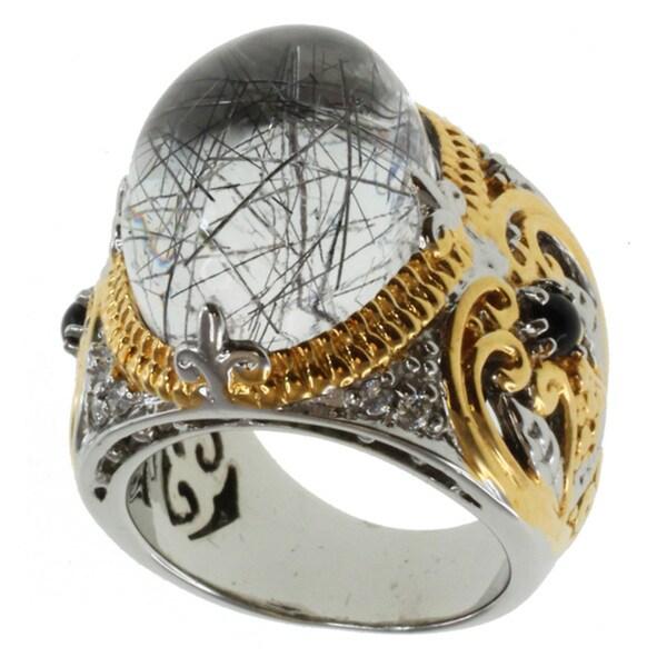 Michael Valitutti Two-tone Rutilated Quartz Ring