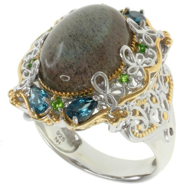 Michael Valitutti Two-tone Labradorite Ring