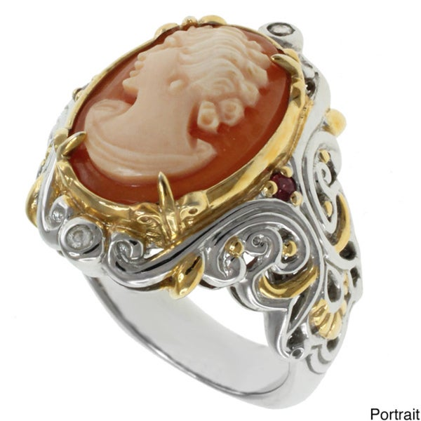 Michael Valitutti Italian Shell Cameo RIng