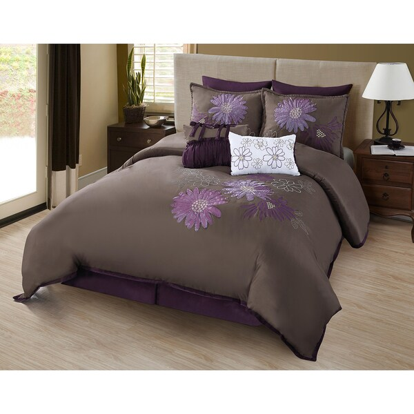 Garden Party Lark Plum 8-piece Comforter Set
