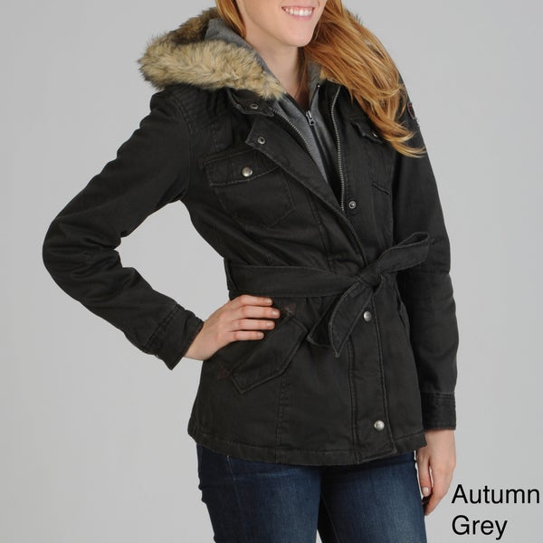 Buffalo Women's Faux Fur Collar Coat