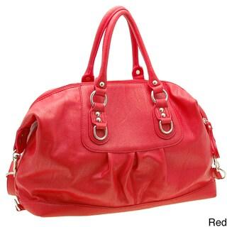 Dasein Faux Leather Convertible Shoulder Bag