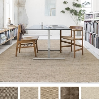 Hand-woven Cape Cod Wool/ Cotton Rug (9'3 x 13')