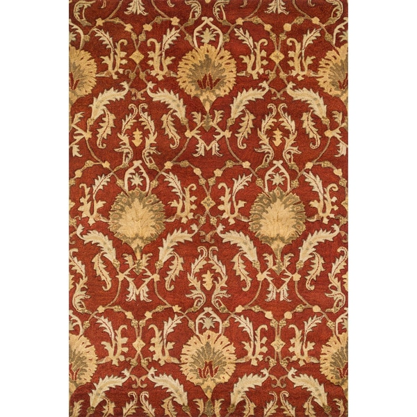 Hand-tufted Ferring Persimmon Wool Rug (7'10 x 11')