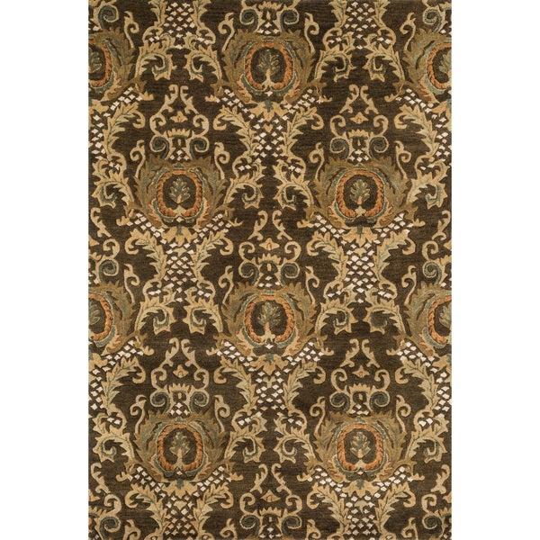 "Hand-tufted Ferring Dark Olive Wool Rug - 5' x 7'6"""
