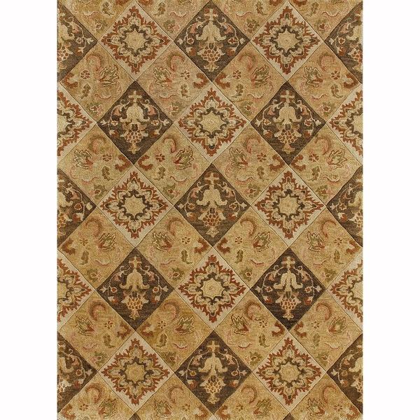 Hand-tufted Ferring Multi Wool Rug (5' x 7'6)