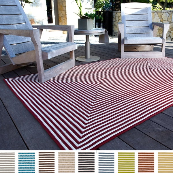 Indoor/Outdoor Hand-braided Contemporary Rug - 9'3 x 13'