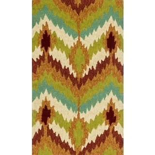 Indoor/Outdoor Hand-hooked Portia Multi Rug (2'3 x 3'9)