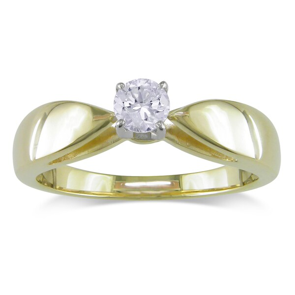 Miadora 14k Yellow Gold 1/3ct TDW Certified Diamond Ring (G-H, I1-I2)