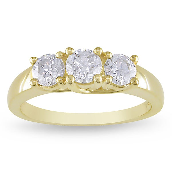 Miadora 14k Yellow or White Gold 1ct TDW Diamond Ring (G-H, SI1-SI2)