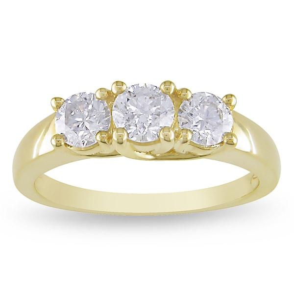 Miadora 14k Yellow or White Gold 1ct TDW Diamond Ring (G-H, SI1-SI2)