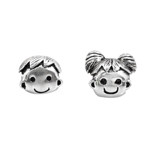 Pandora Charm Boy Face Sterling Silver