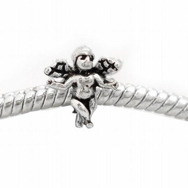 De Buman Sterling Silver Antique-style Fairy Charm Bead