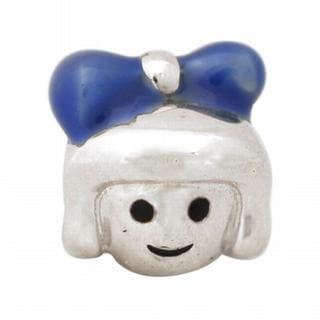 De Buman Sterling Silver Enamel Little Girl Charm Bead