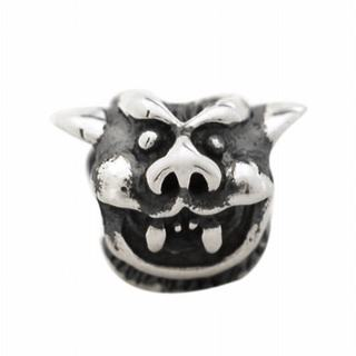 De Buman Sterling Silver Antique-style Devil Charm Bead
