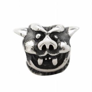 De Buman Sterling Silver Antique-style Devil Charm Bead
