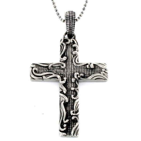 Stainless Steel Decorative Cross Necklace