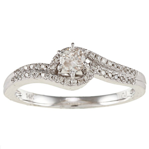 Victoria Kay 14k White Gold 1/3ct TDW White Diamond Ring (IJ, I1-I2)